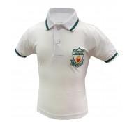 Sacred Heart White Polo Shirt / Green Trim (with Logo)