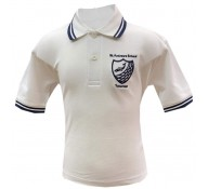 St Andrew's  White Polo Shirt (with Logo)