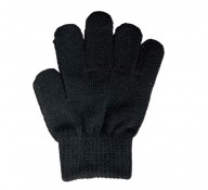 Plain Black Gloves