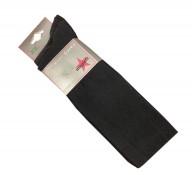 Plain Black Over Knee Socks (2 Pairs)