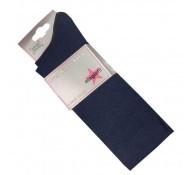 Plain Navy Over Knee Socks (2 Pairs)