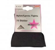 Plain Black Tights Nylon (2 Pairs)