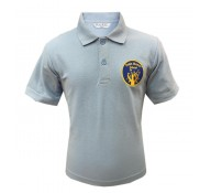 Frith Manor Pale Blue Polo Shirt (with Logo)