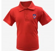 Dwight Red Short Sleeve Polo Shirt (with Logo)