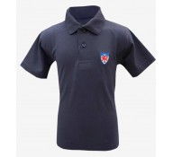Dwight Navy Short Sleeve Polo Shirt (with Logo)