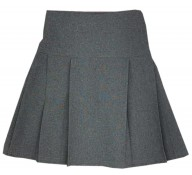 Grey Pleated Skirts