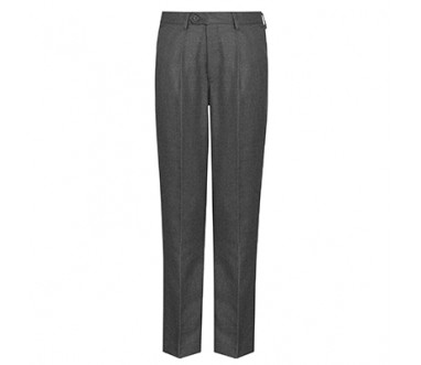 Navy Junior Slim Fit Trouser, Flat Front, Elastic Back (Boys)