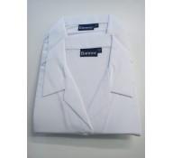 White Blouse Long Sleeve (Open Neck)